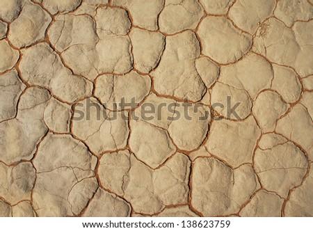 dry clay floor - stock photo