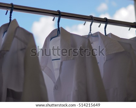 Dry clothes, weekend activity, Bangkok,Thailand.