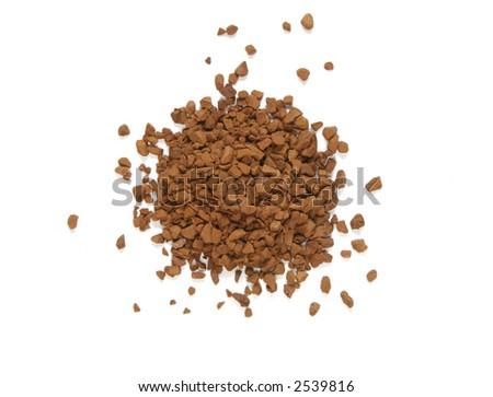 dry coffee extract - stock photo
