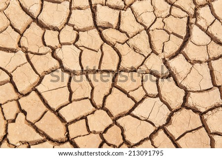 Dry cracked earth as background or texture