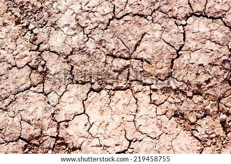 Dry cracked ground texture.  - stock photo
