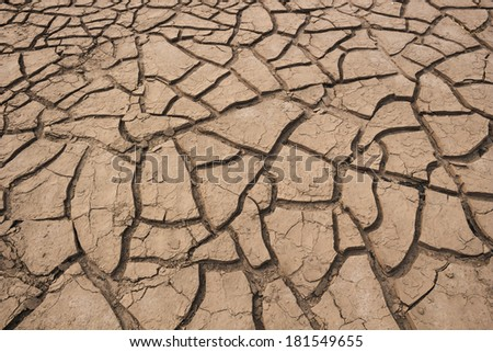 Dry cracked soil in drought land