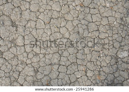 Dry, cracked soil texture