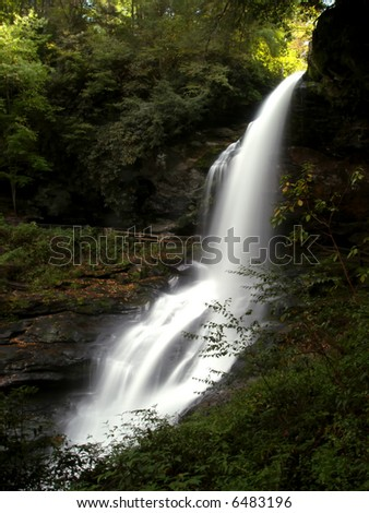 Dry Falls, North Carolina - stock photo