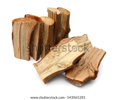 Dry firewood isolated on a white background