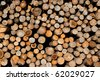 Dry Firewood Logs Background - stock photo