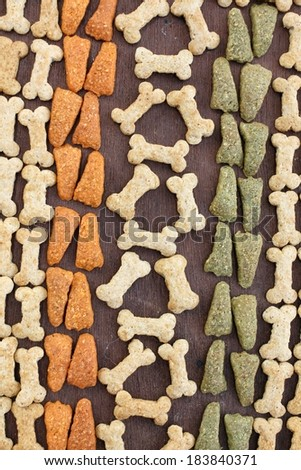 Dry food for dog and cat - stock photo