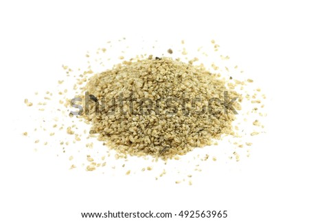 dry food for fish of Daphnia on a white background