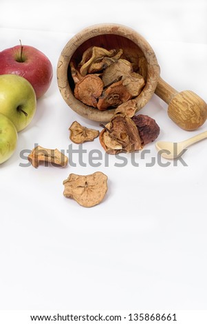 dry fruit are apples