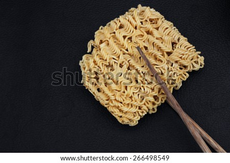 Dry instant noodle  - stock photo