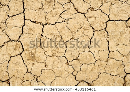 Dry land background - stock photo