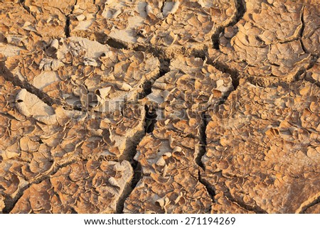 dry ,land,crack,quake,soil,drought,field - stock photo