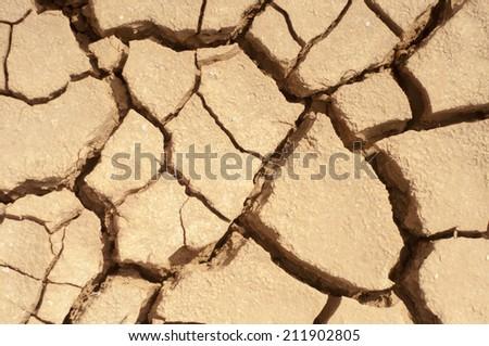 Dry Land (Cracked Ground) - stock photo