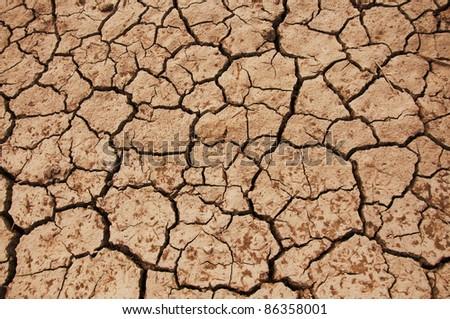Dry land texture, background image. - stock photo