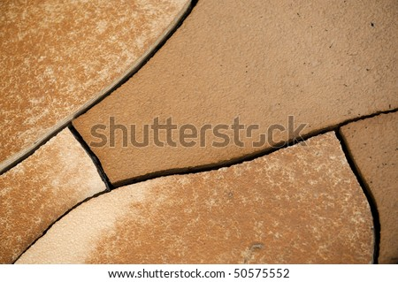 Dry landscape in horizontal composition - stock photo