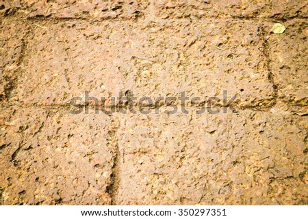 Dry laterite floor texture background, stock photo