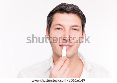 dry lips - stock photo