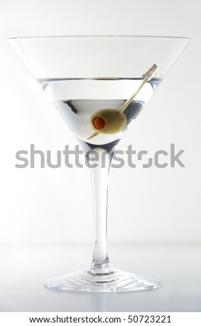 Dry martini cocktail - stock photo