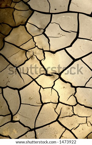 dry mud that has crackled - stock photo