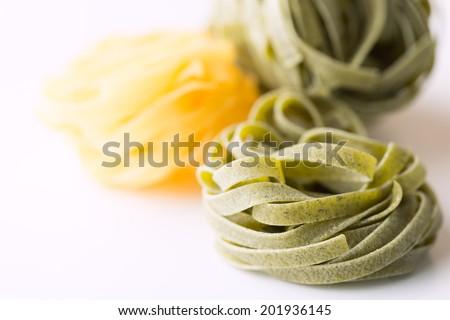 Dry pasta close up - stock photo
