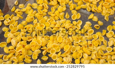 Dry pasta in Bari, Puglia - stock photo
