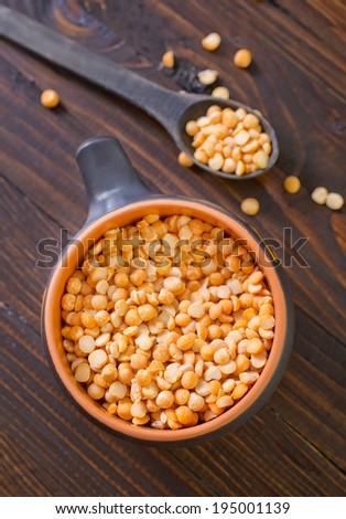 dry pea - stock photo