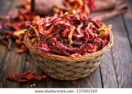 Dry pepper - stock photo