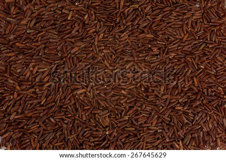 dry red rice grain as texture background