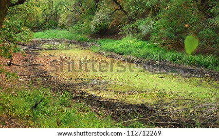 Dry river bed in Arad ,Romania - stock photo