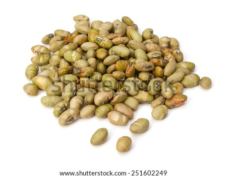 Dry Roasted Edamame - stock photo