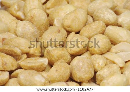 Dry Roasted Peanut Background - stock photo