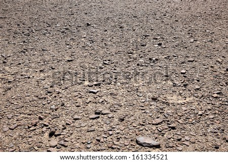 Dry rocky desert landscape in Namibia - landscape exterior - stock photo