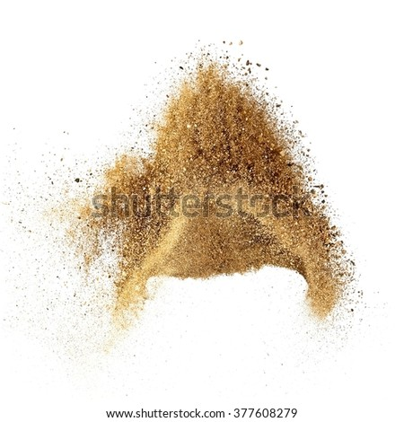 Dry sand explosion - stock photo