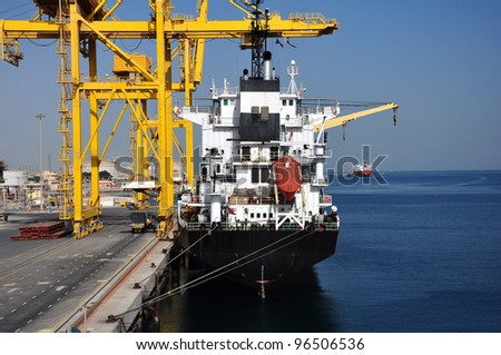 Dry ship in the port - stock photo
