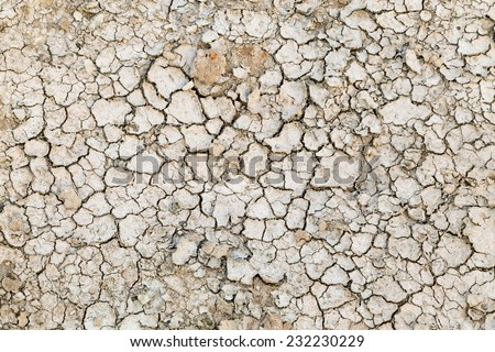 dry soil - stock photo
