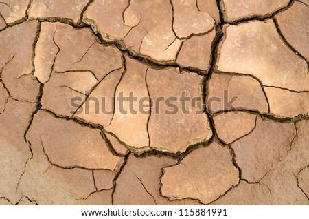 Dry soil in arid areas - stock photo
