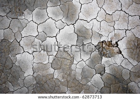 Dry soil with cracks, Iceland.