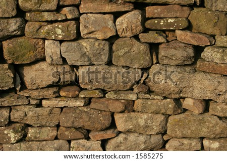 Dry Stone Wall Background Texture - stock photo
