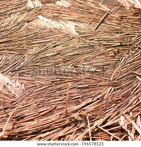 Dry straw macro shot. Background or Texture - stock photo