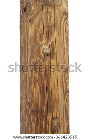 dry telegraph pole isolated on white background