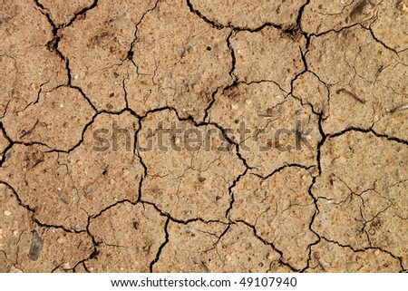 Dry terra's background for different uses. - stock photo