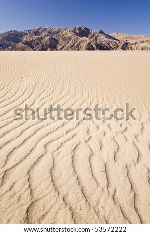 Dry terrain and dune at dead valley - stock photo