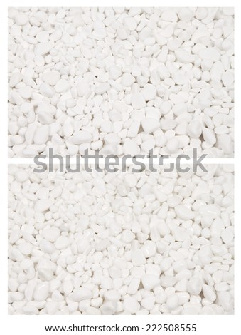 Dry (top) and wet (down) decorative gardening rocks background, full size - stock photo