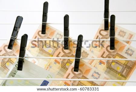 Dry up of Euro money - stock photo