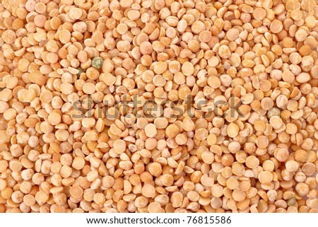 Dry yellow peas as texture