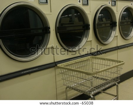 Dryers and basket - stock photo