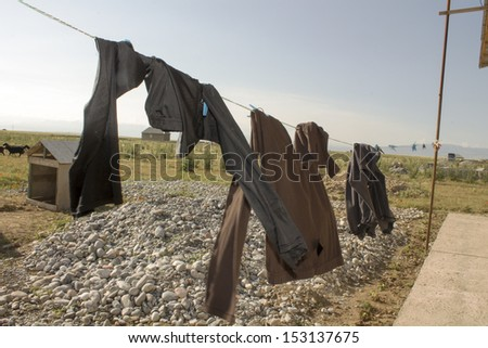 drying clothes - stock photo