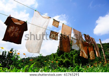 drying day - stock photo