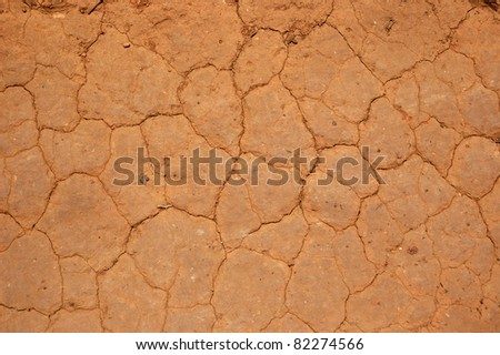 Dryness in South America - stock photo