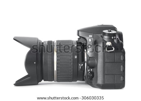 dslr camera - stock photo